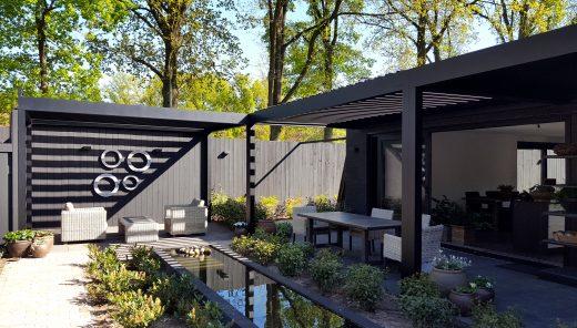 Modern ontwerp voor architectuur interieur buitenruimte - Luifel ontwerp voor patio ...